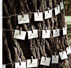 Escort cards #wedding #rustic