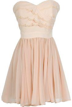 Scalloped blush dress