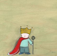 """The King of Everything"" kids wall art by Creative Thursday by Marisa for Oopsy daisy, Fine Art for Kids"