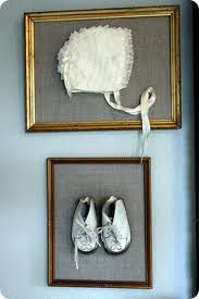 This is the perfect idea for hanging the kids blessing clothes.