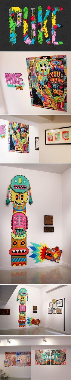 Eduardo Bertone – Puke Exhibition