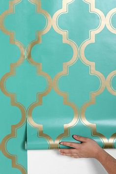 Removable wallpaper: Vinyl-coated, self-adhesive decorative paper. Easy to remove and reapply, so you can change it up