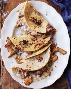 Chanterelle tacos--doing a riff on this one this week.  I know that it's July, but I think I'm going to try some earthy fall herbs.
