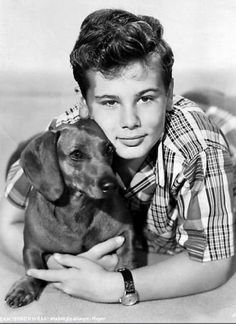 Dean Stockwell, and his dog