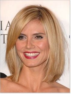 straight, shoulder length short haircuts, medium haircuts, new haircuts, heidi klum, side bangs, bob hairstyles, bob hair style, long bobs, bob haircuts