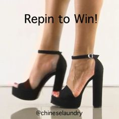 Win a free pair of shoes today only! To enter is easy: 1) Follow @Lucie Miller Laundry Shoes on Pinterest 2) Repin this pin. We will announce the winner on Pinterest tonight!