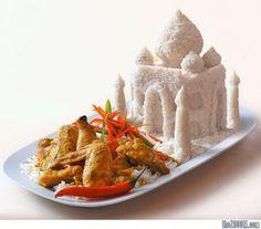 geek, food sculpture, rice, taj mahal, food design, indian foods, art sculptures, foodart, food art