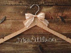 . rustic hanger, bow