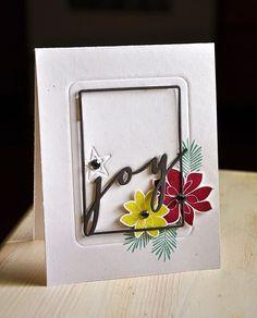 Joy Card by Maile Belles for Papertrey Ink (September 2014)