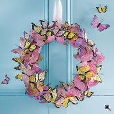 4. Spring wreath  Butterfly Wreath..