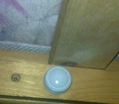 Mini LED Guide Light provides comforting nightlight for child sleeping on the bottom bunk.