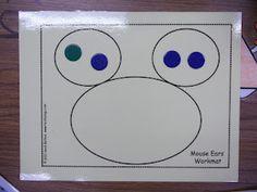 Math Tubs in Kindergarten  part part whole mat