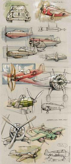 Sketches on Behance via PinCG.com