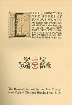 Roycroft Press book plate
