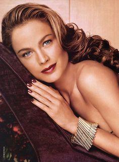 Carolyn Murphy  for Estee Lauder vintage. Like hair color