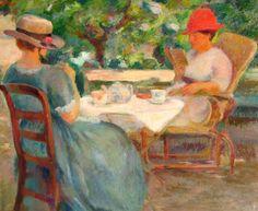 Fernand Blondin  Tea in the Garden  1917