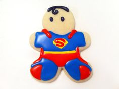 Superman Superhero Sugar Cookies by guiltyconfections on Etsy, $21.00