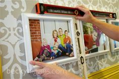 how to perfectly hang pics in grid