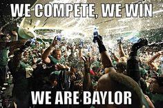 Post Baylor-TCU upset. (Final score: 61-58) // We compete, we win. We are #Baylor. #SoMuchSicEm
