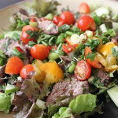 "Thai Beef Salad | ""A colorful, tangy salad that brings out the best in Thai cuisine and spices."""