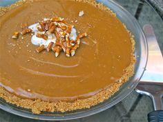 Peanut Butter Pie with Pretzel Crust