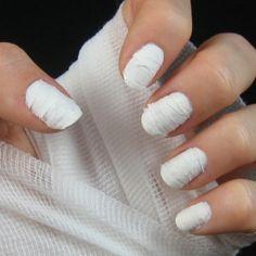 mummy nails - fun look for Halloween