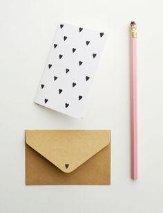 DIY heart print card