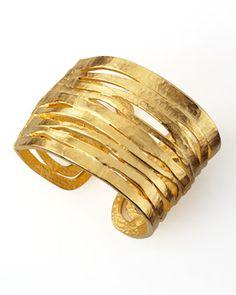 lane hammer, jay lane, satin golden, bracelets, hammer satin, golden cuff, cuffs, kenneth jay, neiman marcus