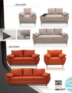 Salas sillones y sofas de inlab muebles 2014 on pinterest for Muebles africa