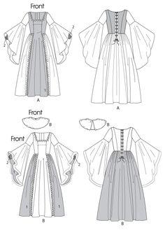 M6376 Misses'/Girls' Renaissance Costumes