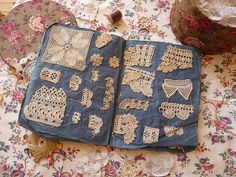 Antique lace samples book