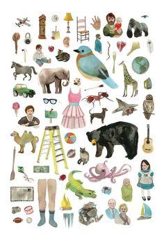 ABC & Alphabet art prints: ABC Poster 1 by Erin Althea
