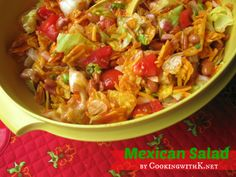 Mexican Salad made with Catalina Dressing {Perfect for July 4th}