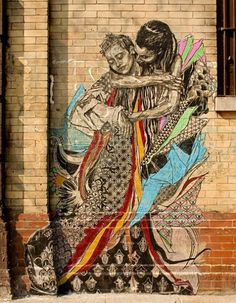 By Swoon at street artist from Daytona Beach, Florida