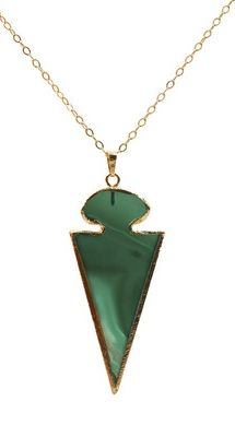 Loving the color of this  Agate Arrowhead Necklace.