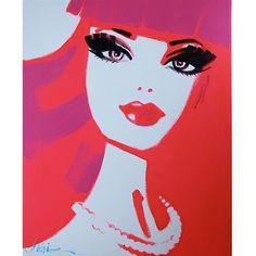 Unafraid 2 - Pop Art Barbie Style Painting by Debbie Curtis - $150.