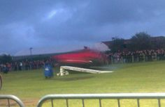 A very blurry corsa being flipped over... forces? Via @MrsDrSarah