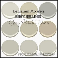 Evolution of Style: Benjamin Moore's Best Selling Grays