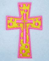 Embroidery Designs Cross. Polka dotted cross design cross, polka dots, dot cross, crosses