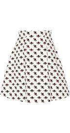 Miu MiuPrinted cotton A-line  skirt