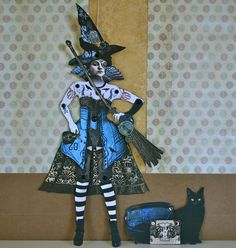 SteamWitch Paper Doll Puppet - by curlycuedesign via Etsy. at http://www.etsy.com/listing/83574272/steamwitch-paper-doll-puppet-diy-print