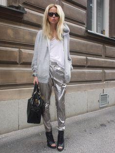 more silver sparkle pants