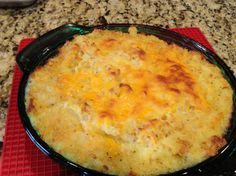 Cheesy Mashed Potato Bake