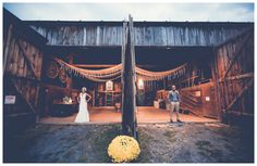 Vintage Farm Wedding Bride And Groom
