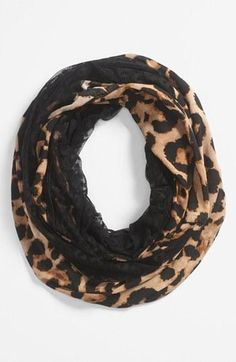 Cheetah print scarf!