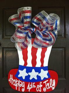 Fourth of July Wreath Fourth of July Door by DoodleBugCraftsbyR, $45.00