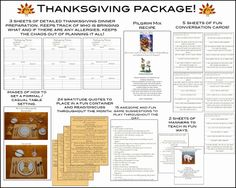 Thanksgiving Package to organize the holiday