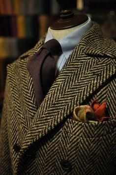 Smart office. Layered Grey/Blue. Layered patterns. Brown highlight. Herringbone.