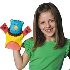 Color-Me Fabric Animal Hand Puppets  (pack of 24)