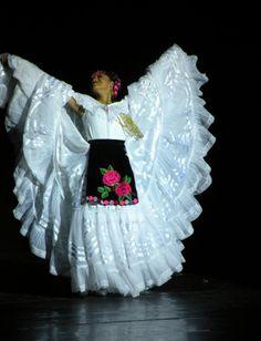 White Folklorico Dress